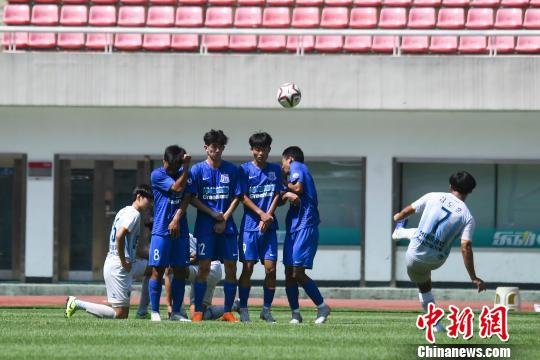 中日韩青少年运动会足球赛中国0比2负韩国
