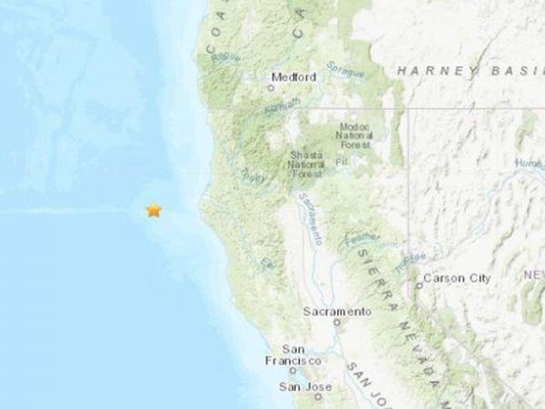 美国加州附近海域发生5.0级地震震源深度2.2公里